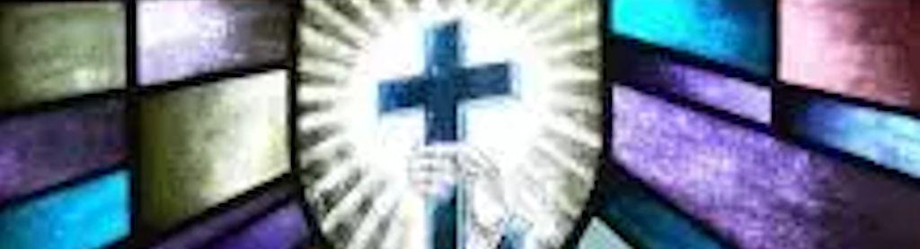 kerkraam met kruis
